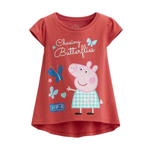 Peppa Pig包肩印花T恤-08-童