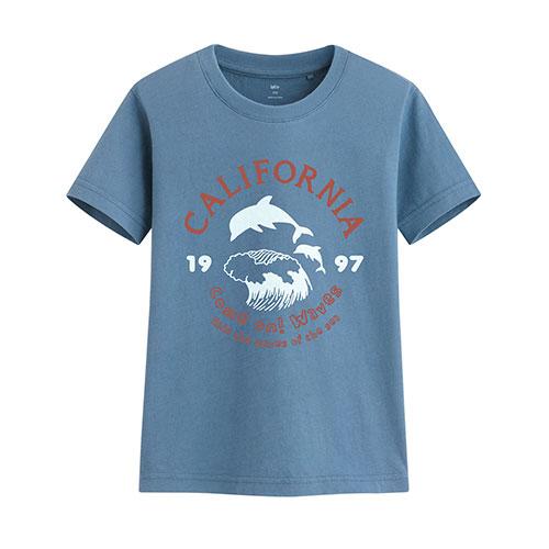 加州衝浪印花T恤-童