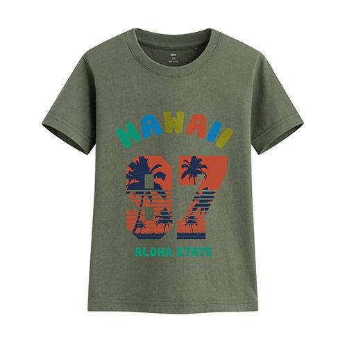 衝浪吧印花T恤-童