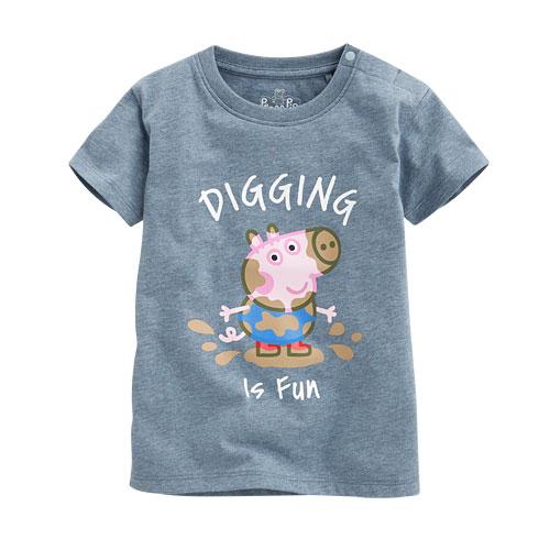 Peppa Pig印花T恤-01-小童