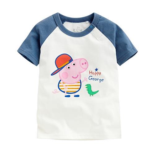 Peppa Pig印花T恤-05-小童