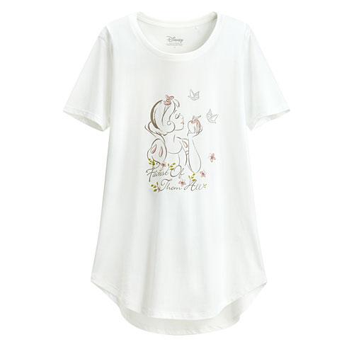 迪士尼系列輕柔印花T恤-24-女