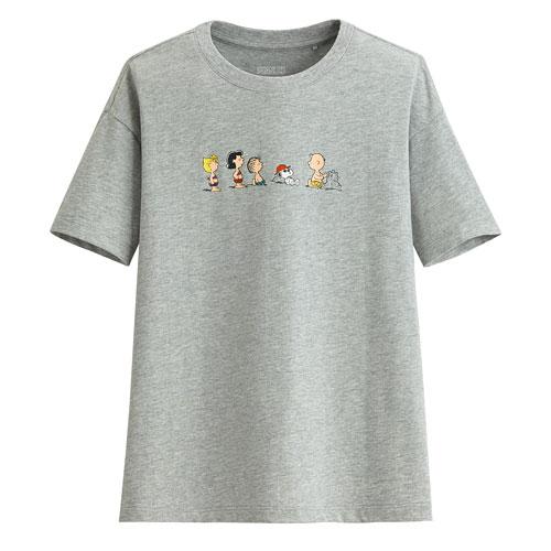 史努比寬版印花T恤-17-女