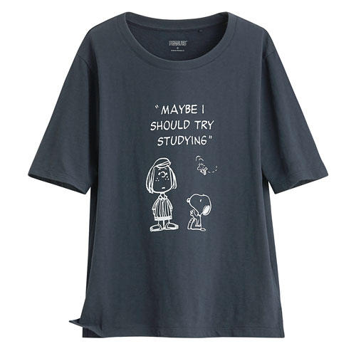 史努比竹節棉寬版T恤-20-女