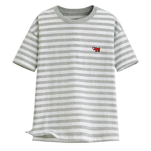 Keith Haring寬版條紋T恤-08-女