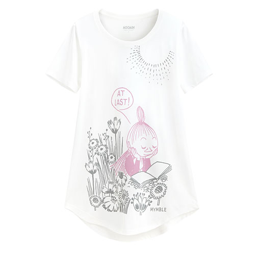 Moomin輕柔印花T恤-03-女