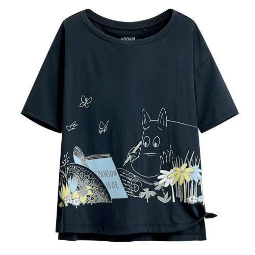 Moomin輕柔短版印花T恤-05-女