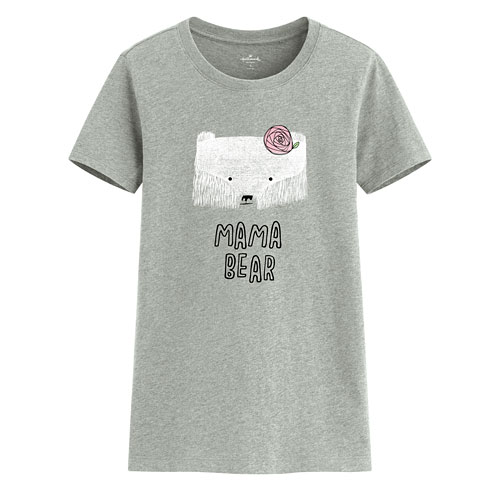 Hallmark印花T恤-07-女