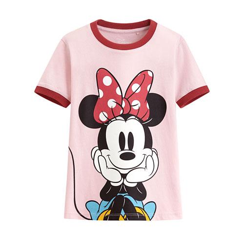 迪士尼系列羅紋配色印花T恤-33-童