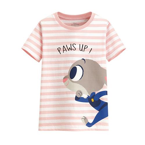迪士尼系列條紋印花T恤-59-童