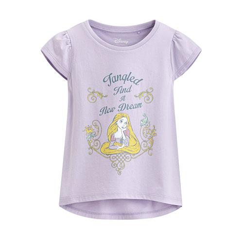迪士尼系列包肩印花T恤-44-童