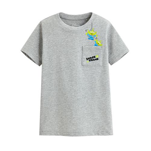 皮克斯系列口袋印花T恤-03-童