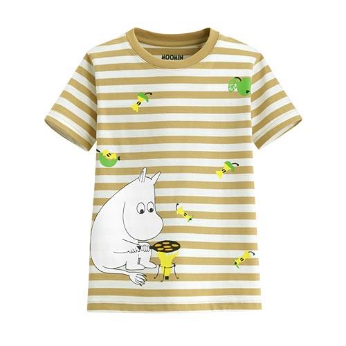 Moomin條紋印花T恤-07-童