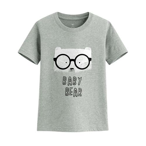 眼鏡熊印花T恤-童