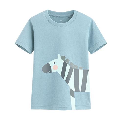 斑馬印花T恤-童