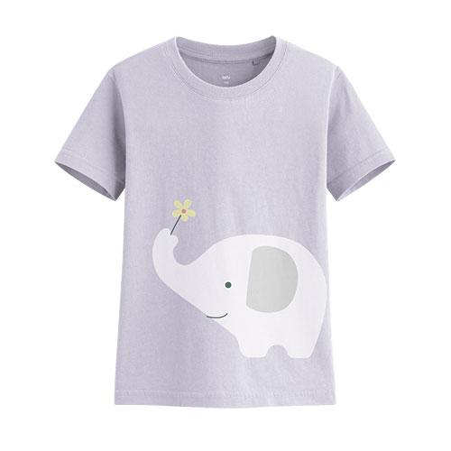 大象印花T恤-童