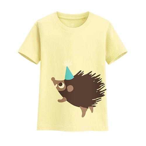 刺蝟印花T恤-童