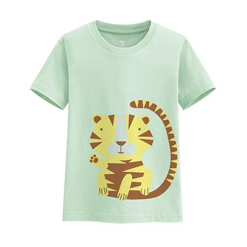 老虎印花T恤-童