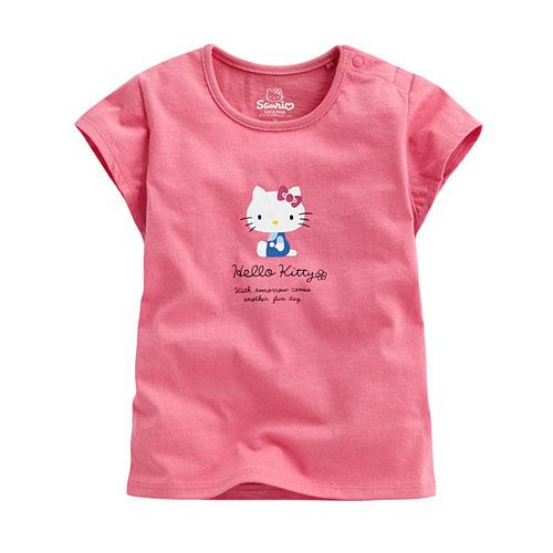 Hello Kitty包袖印花T恤-03-Baby