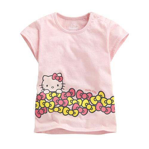 Hello Kitty包袖印花T恤-04-Baby