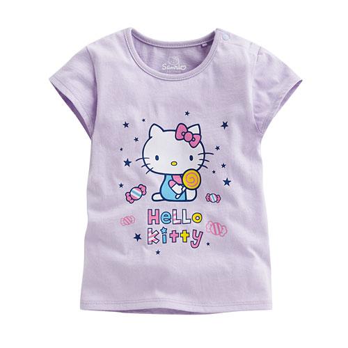 Hello Kitty包袖印花T恤-05-Baby