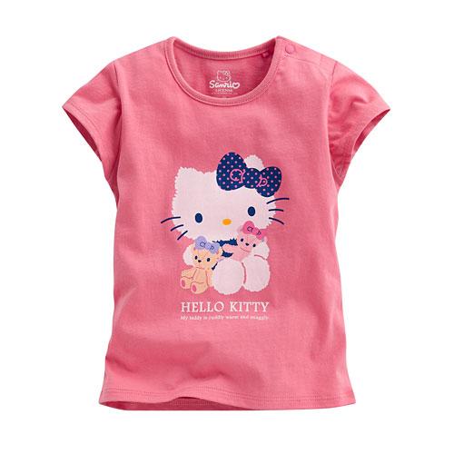 Hello Kitty包袖印花T恤-07-Baby