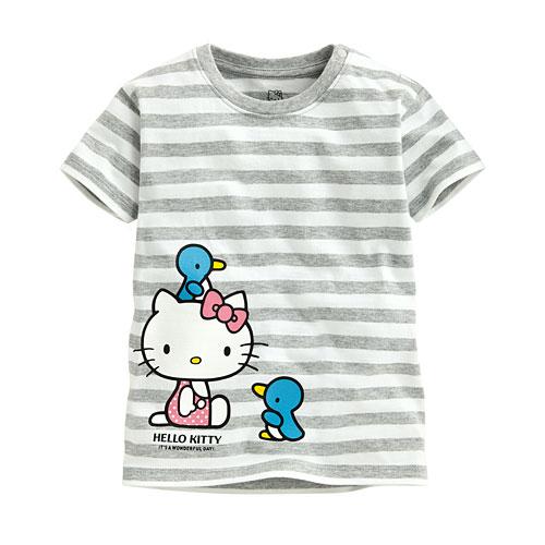 Hello Kitty條紋印花T恤-10-Baby