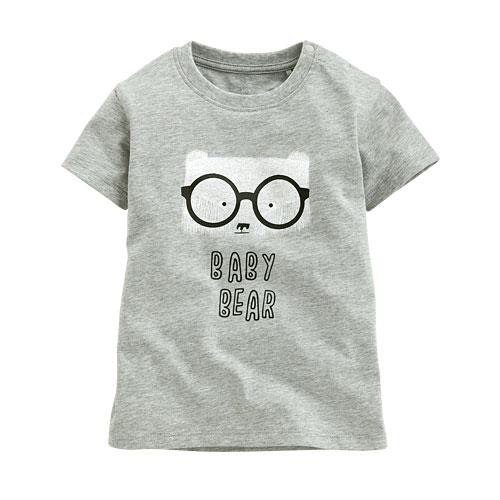 眼鏡熊印花T恤-Baby