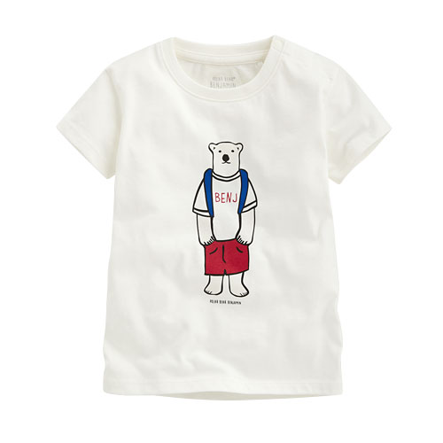 Polar Bear Benjamin印花T恤-09-Baby