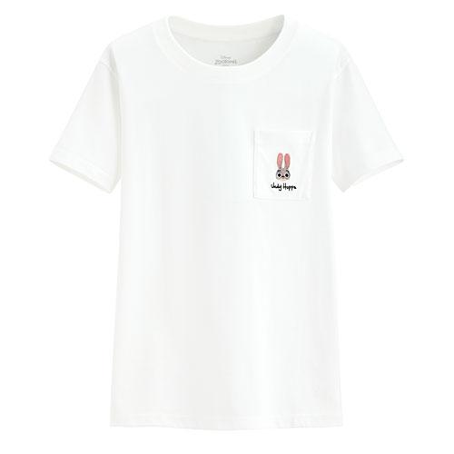 迪士尼系列口袋印花T恤-70-女