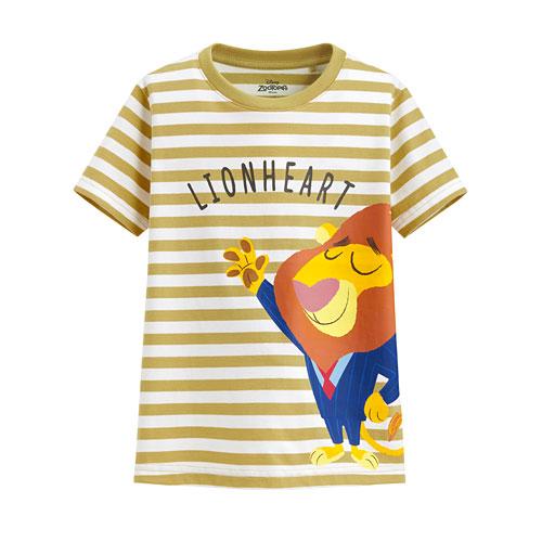 迪士尼系列條紋印花T恤-78-童