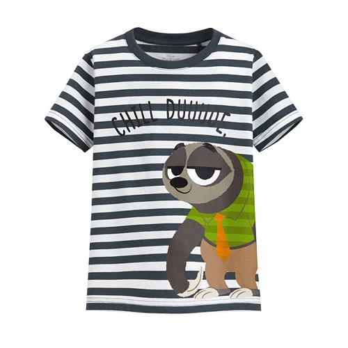 迪士尼系列條紋印花T恤-79-童