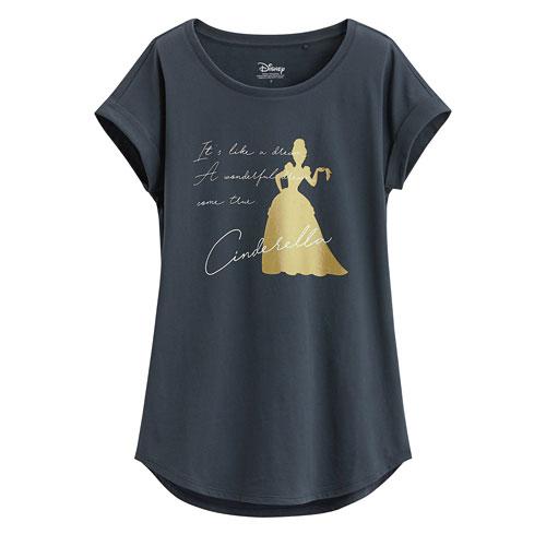 迪士尼系列袖口反折印花T恤-69-女
