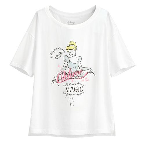 迪士尼系列輕柔短版印花T恤-65-女