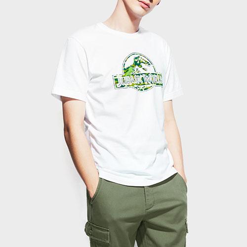 Jurassic World印花T恤-11-男
