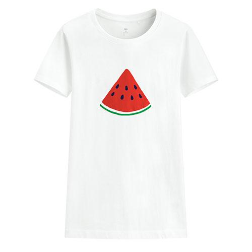 夏日西瓜印花T恤-女