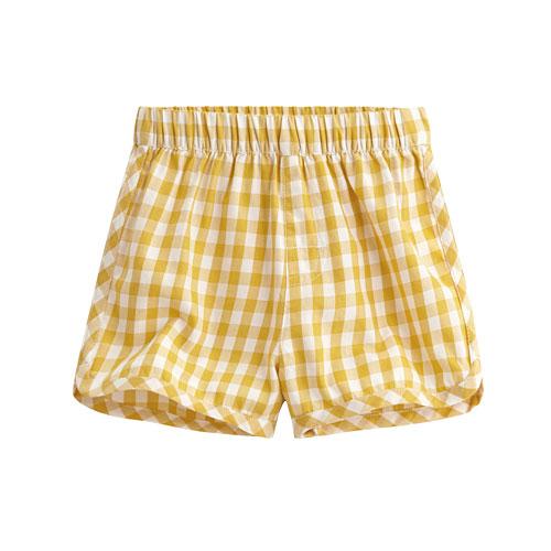 純棉格紋短褲-童