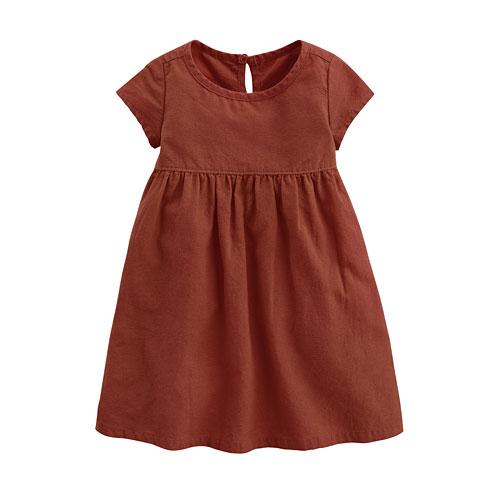棉麻短袖洋裝-Baby