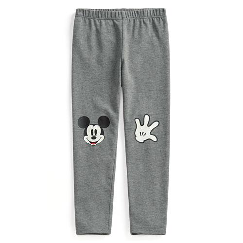迪士尼系列彈力印花九分內搭褲-童
