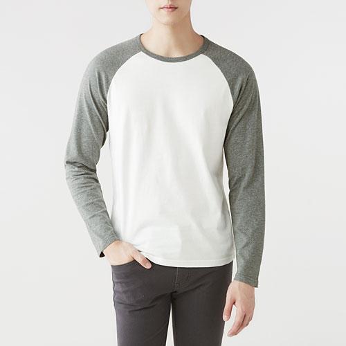 純棉拉克蘭長袖T恤-男