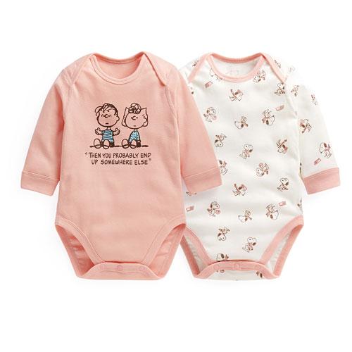 史努比羅紋包臀衣(2入)-Baby