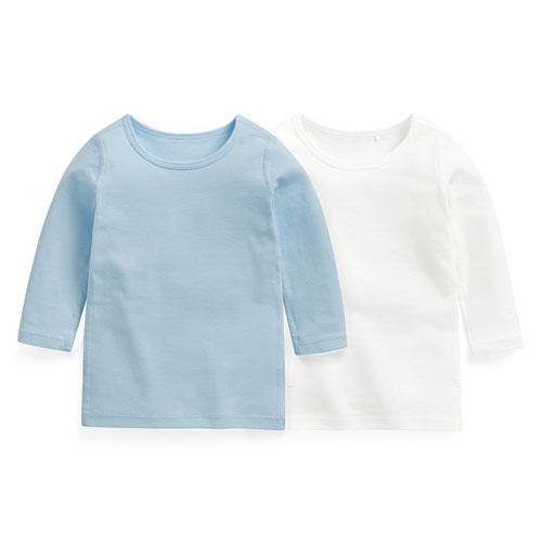 羅紋長袖上衣(2入)-Baby