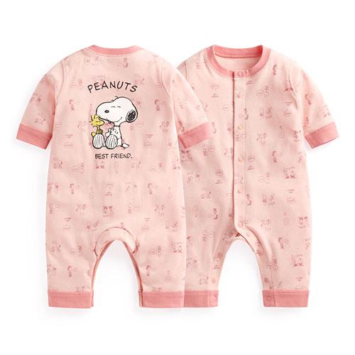 史努比羅紋連身衣-Baby