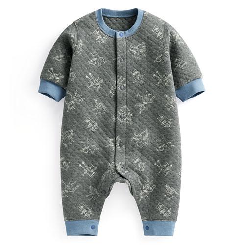 鋪棉印花連身衣-Baby