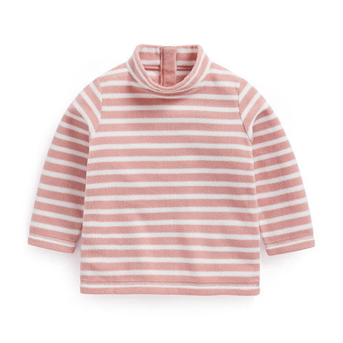 Fleece條紋立領上衣-Baby