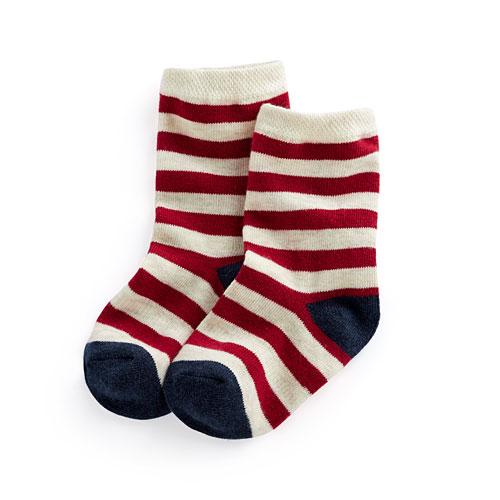 條紋中筒襪-童