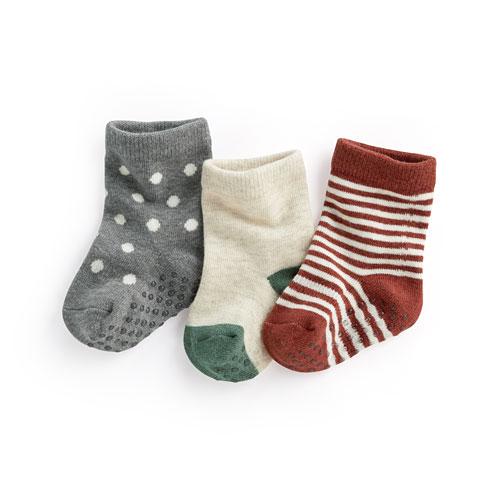 多色中筒襪(3入)-Baby