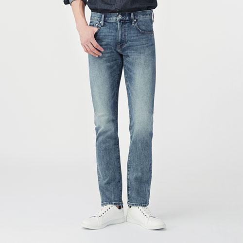 Slim Fit修身直筒牛仔褲-男