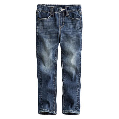 小直筒牛仔褲-童