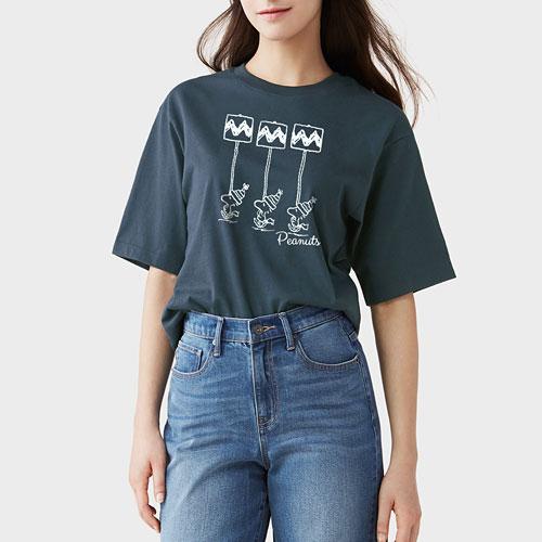 史努比短版T恤-04-女